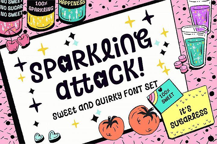 Sparkling Attack Font