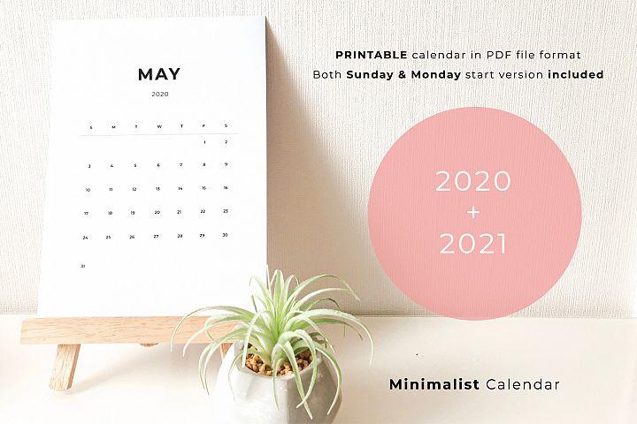 2020 Printable Minimalist Calendar