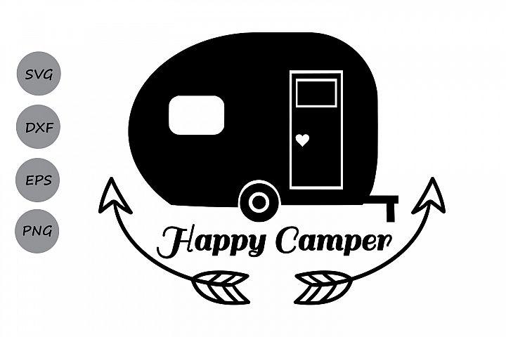 Happy Camper Svg Camping Cut Files Silhouette