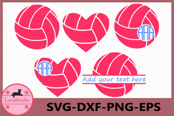 Volleyball SVG, Ball svg, Sport Ball Monogram svg, Cricut
