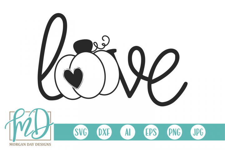 Fall - Halloween - Autumn - Pumpkin Love SVG