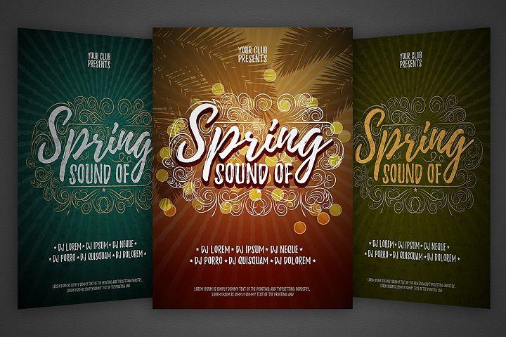 Spring vector party flyer