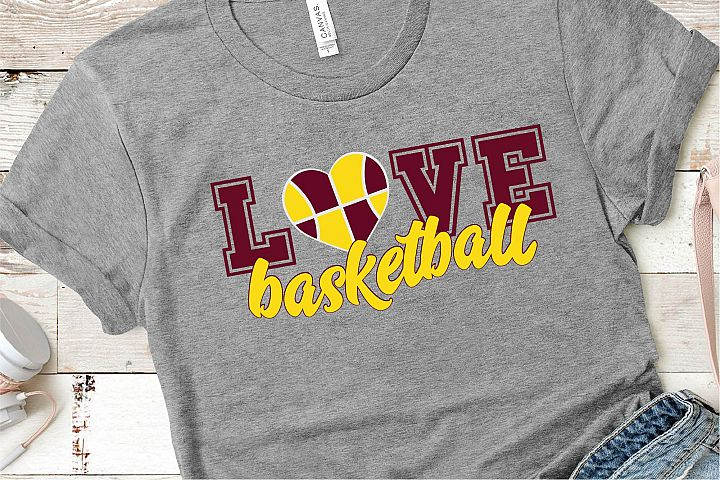 Basketball SVG, Love Basketball Sublimation, PNG EPS Sports