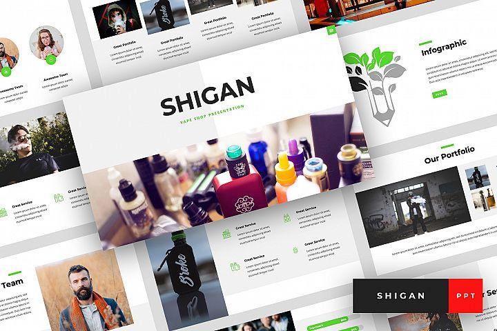 Shigan - Vape Shop PowerPoint Template