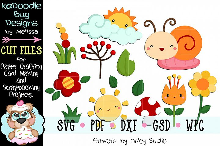 Nature Cuties Cut File - SVG PDF DXF GSD WPC