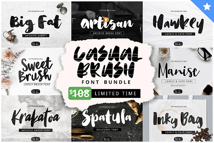 Casual Brush Font Bundles by YandiDesigns