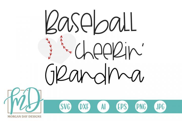 Baseball Heart - Baseball Cheerin Grandma SVG