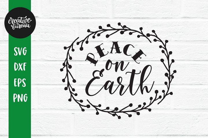 Peace On Earth SVG, Christmas SVG, Santa Claus SVG
