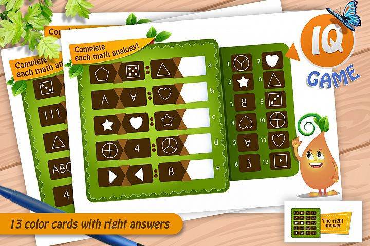 games - complete each math analogy