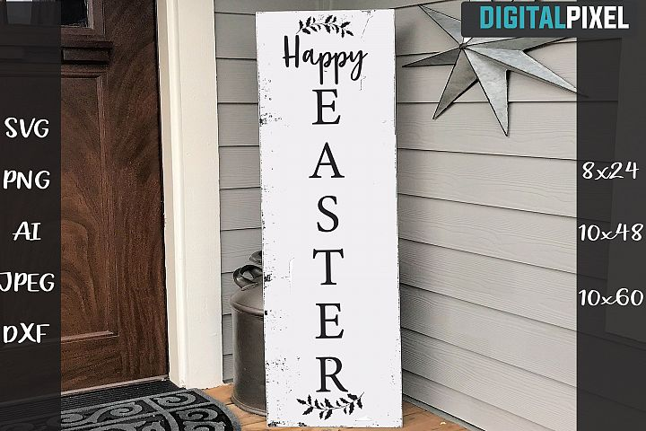 Happy Easter Sign SVG PNG DXF | Home Sign Crafters SVG