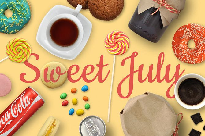 Sweet July: Mockup Scene Template