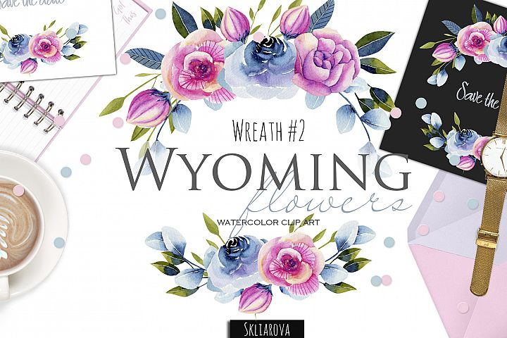 Wyoming flowers. Wreath #2