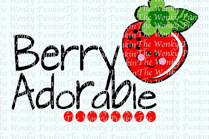 Berry Adorable SVG