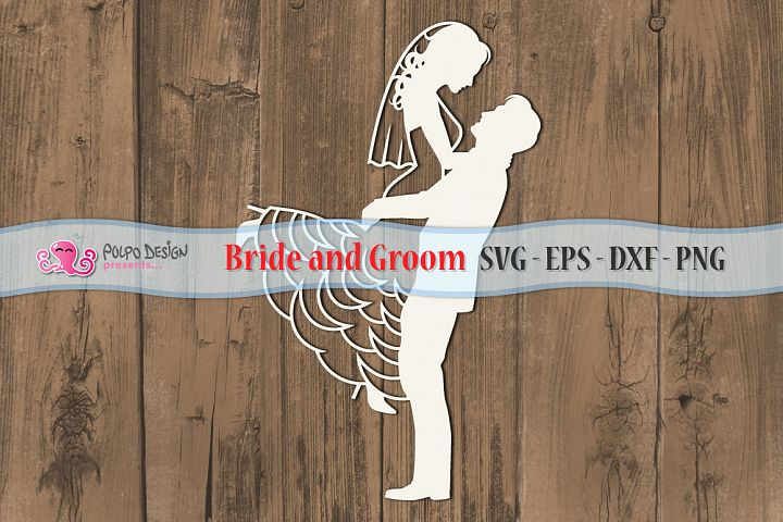 Bride and Groom SVG in SVG, EPS, DXF and PNG file format.