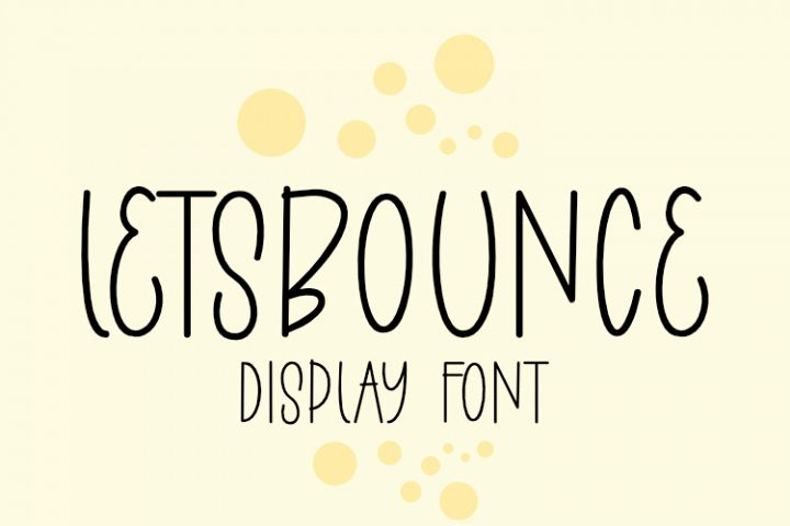 LETSBOUNCE DISPLAY CAPS FONT