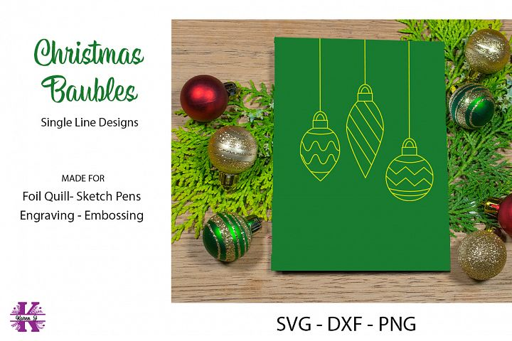 Christmas Baubles SVG for Foil Quill|Sketch Pen|Embossing