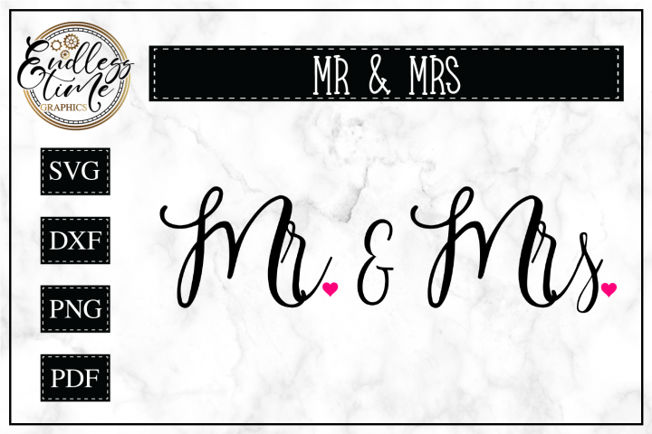 Mr and Mrs Wedding SVG Cut File