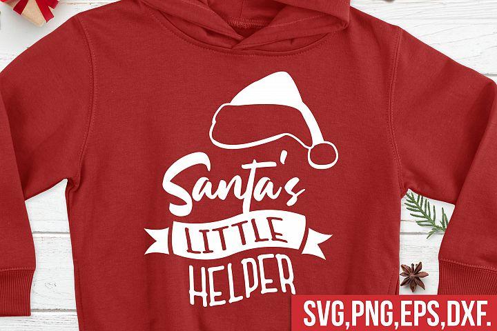 Santas little helper svg, Santa Claus svg, winter svg