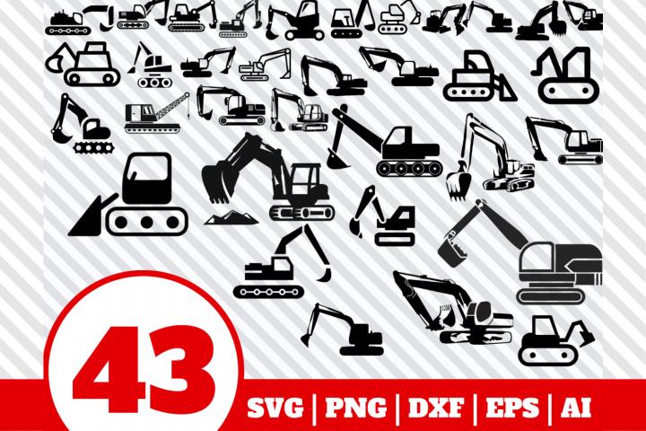 43 Excavator bundle svg - Excavator svg - Excavator vector