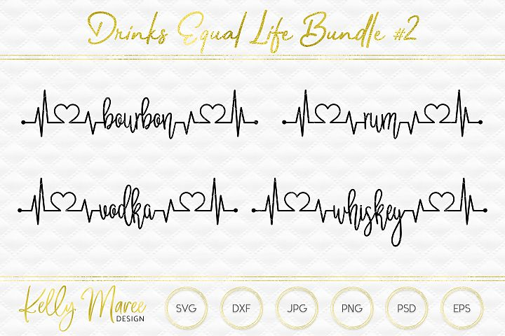 Drinks Lifeline SVG File Bundle #2 | Cricut | Silhouette