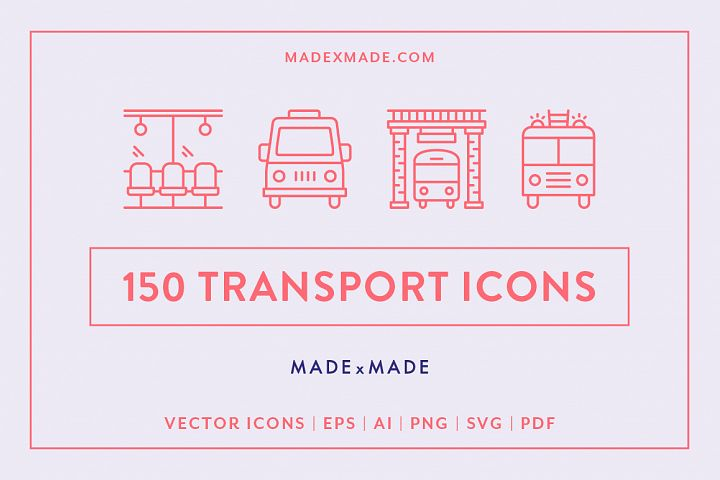 Line Icons – Transport
