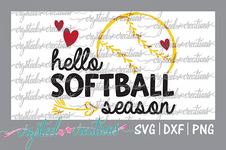 Hello Softball Season SVG, DXF, PNG