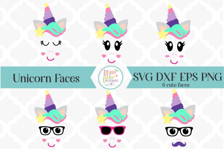 Unicorn Faces SVG Bundle