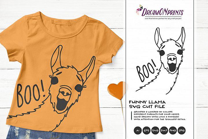 Boo! | Fun Llama SVG | Halloween SVG | Funny Llama