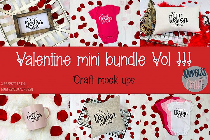 Valentine Mini Bundle Vol III | Craft mock ups