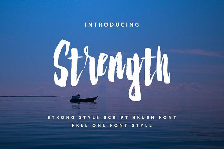 Strenght Script Brush