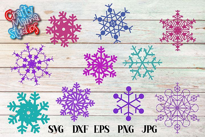 Snowflakes Bundle SVG, Sublimation, Snowflake SVG, Winter