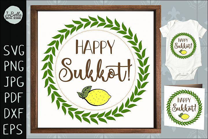 Happy Sukkot SVG, Printable & Sublimation PNG