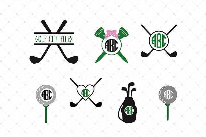 Golf Monogram Frames SVG Cut Files