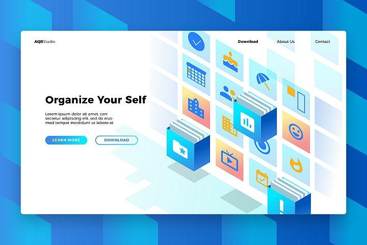Organizer App - Banner & Landing Page