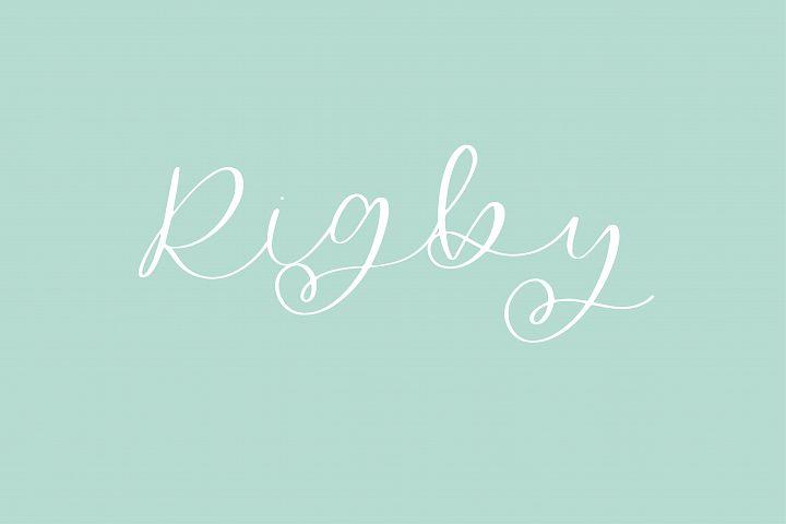 Rigby - A Flowing Script