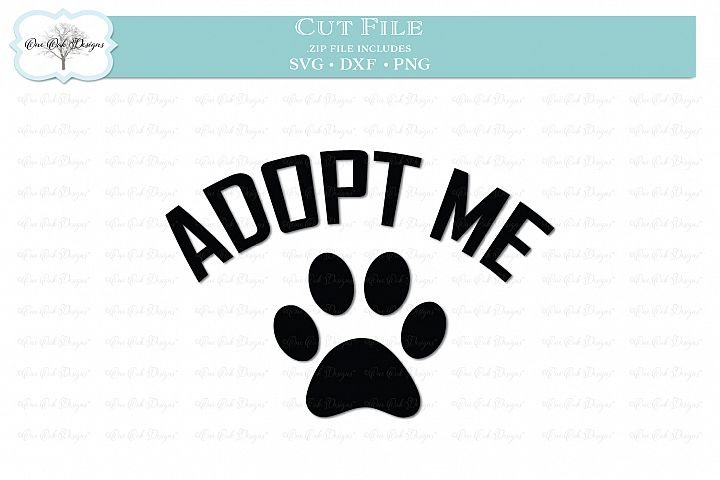 Adopt Me with Paw Print