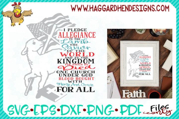 Pledge Allegiance to the Lamb SVG