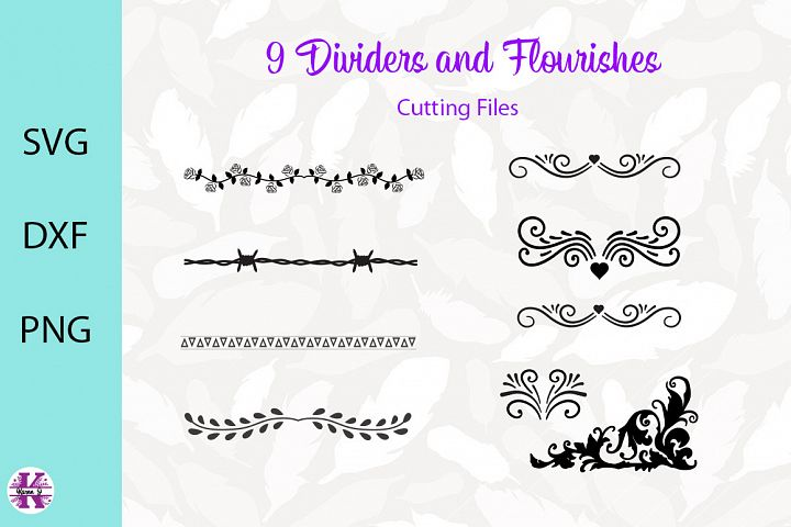 Dividers & Flourishes SVG Cut Files