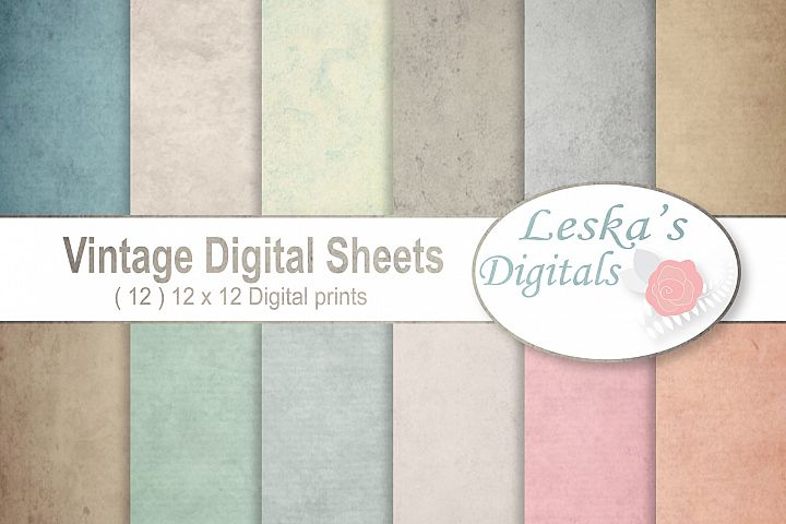 Vintage Paper Backgrounds - Textured Backgrounds in Shabby Chic Colors