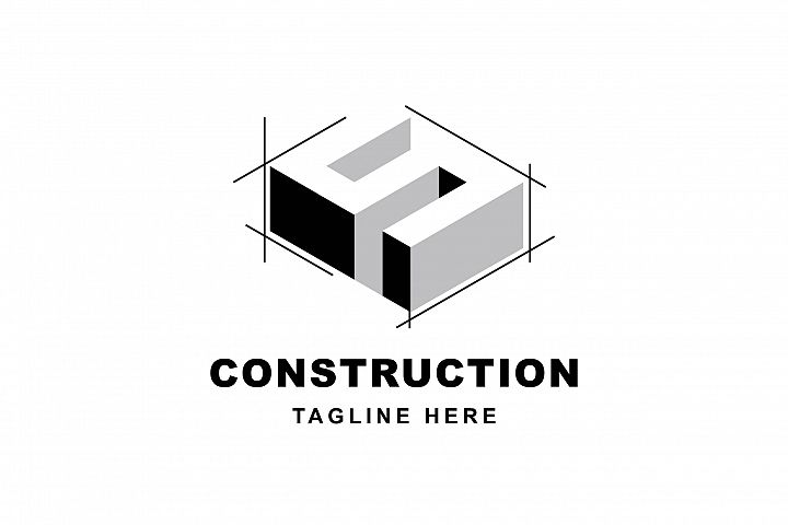 Construction logo with letter S shape