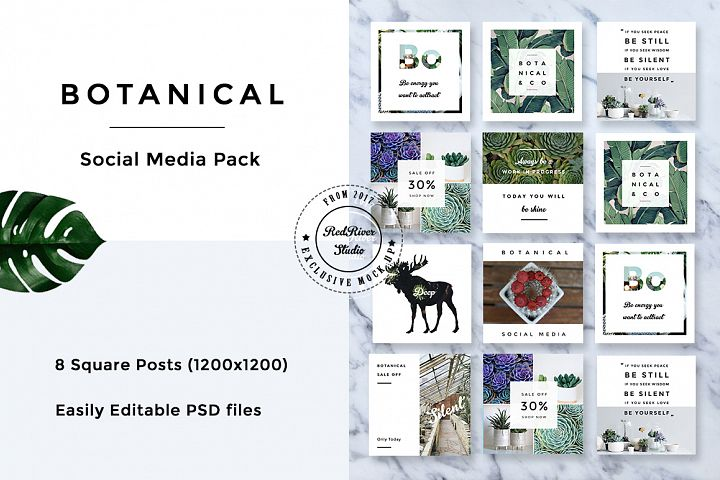 Botanical Social Media Pack