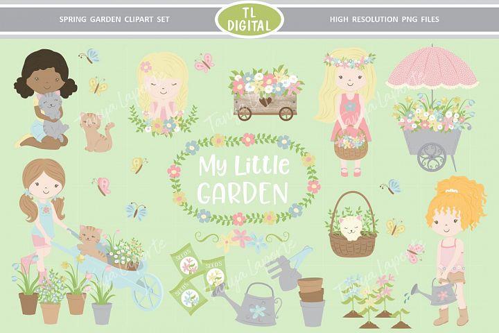 Spring Garden Clipart Set