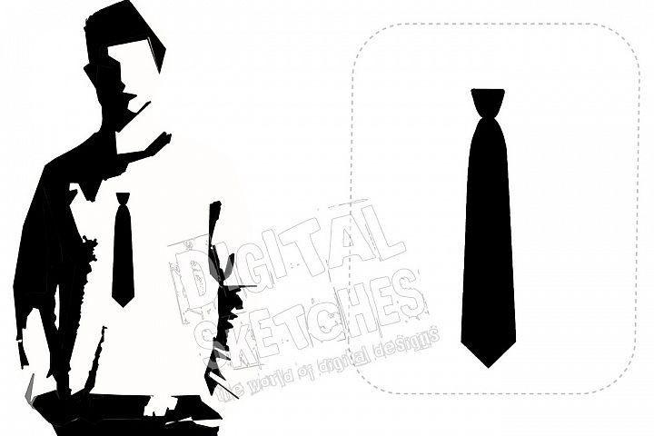 Tie Machine Embroidery Design 3 Sizes