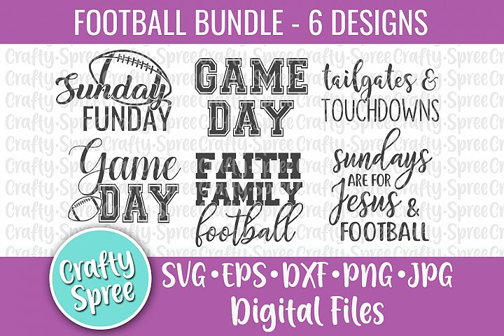 Football Game Day Bundle SVG DXF Design File Sublimation