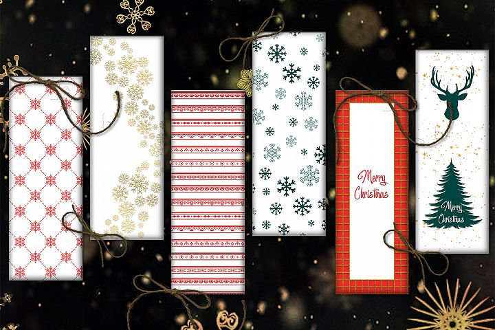 Christmas Bookmarks, Bookmarks Digital, Christmas Cards