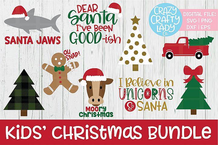 Kids Christmas SVG DXF EPS PNG Cut File Bundle