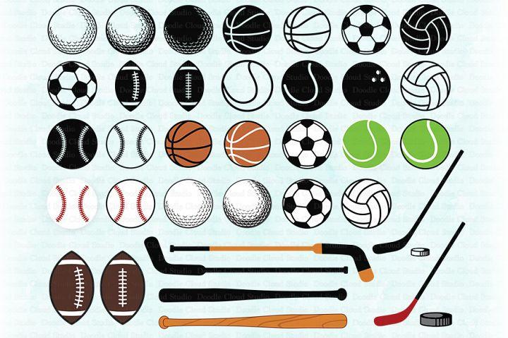Sport SVG, Sport Ball SVG, Sport Balls Clipart, Football.