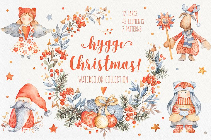Hygge Christmas Watercolor Set