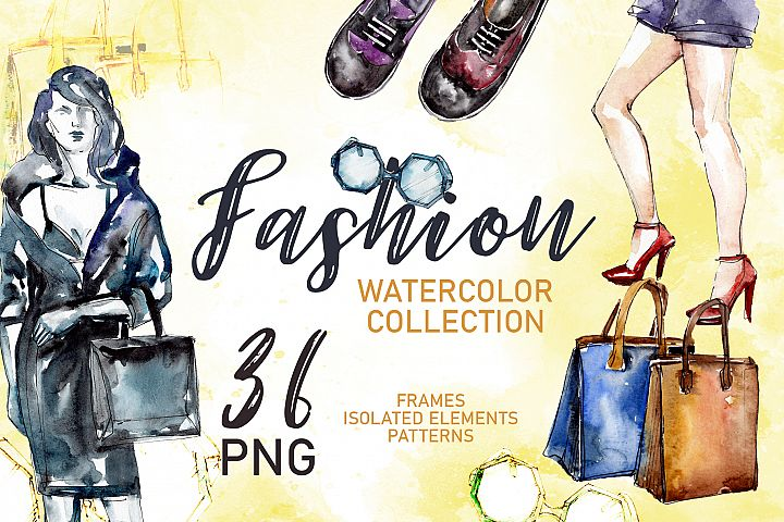 Fashionable collection Super Style Watercolor png