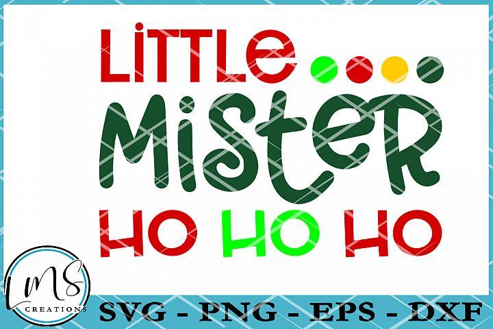 Little Mister Ho Ho Ho SVG, PNG, EPS, DXF